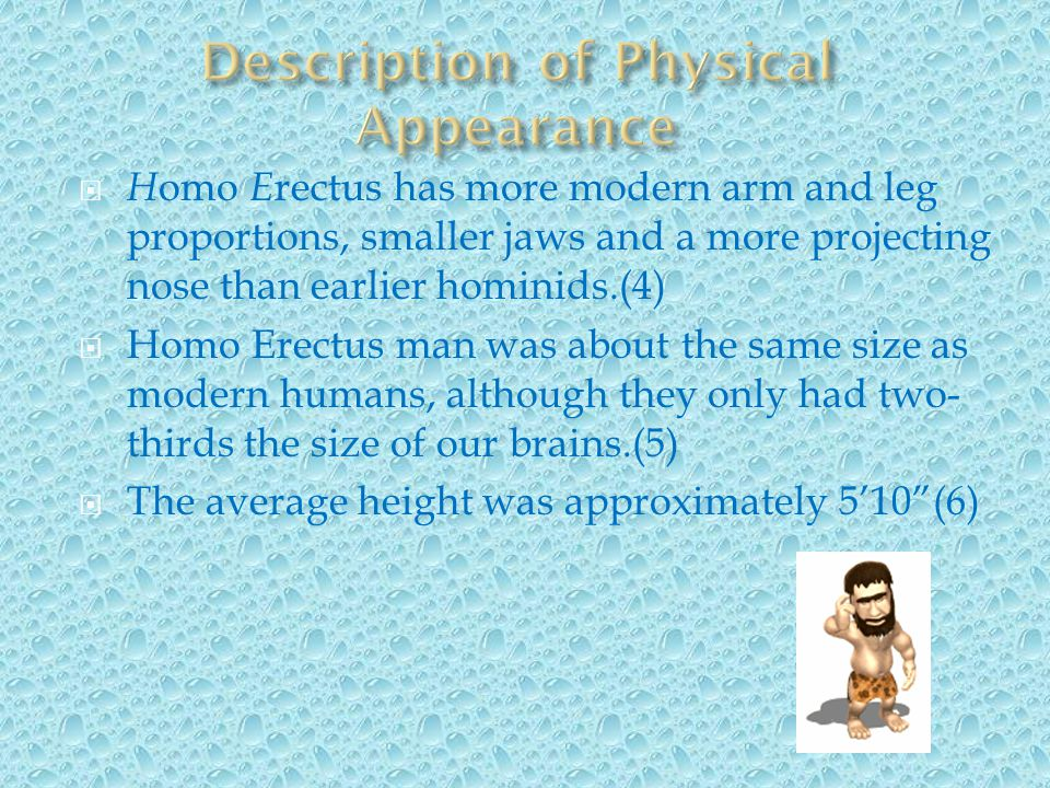 Description of Physical Appearance