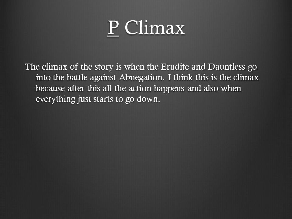 P Climax