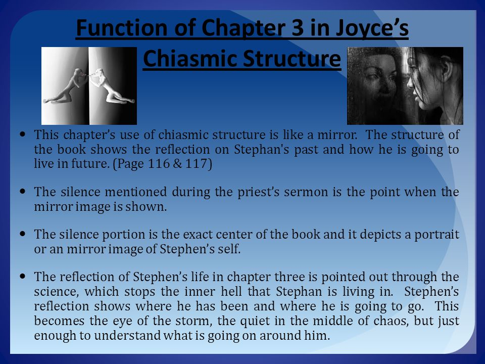 Function of Chapter 3 in Joyce's Chiasmic Structure