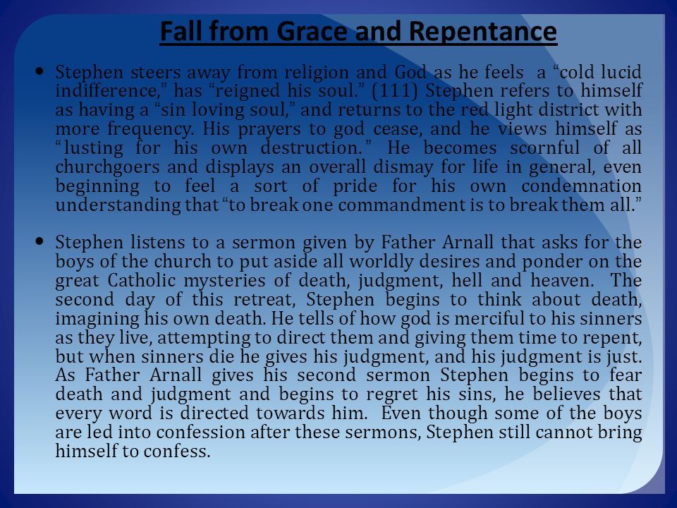 Fall from Grace and Repentance