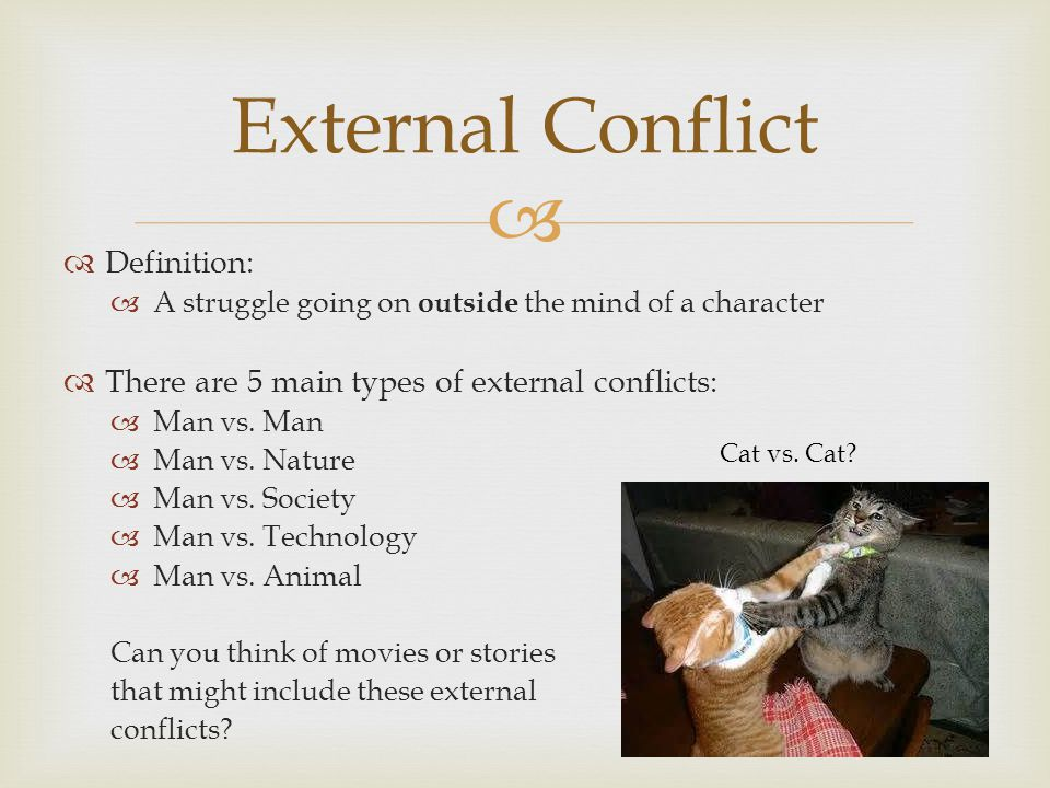 External Conflict Definition: