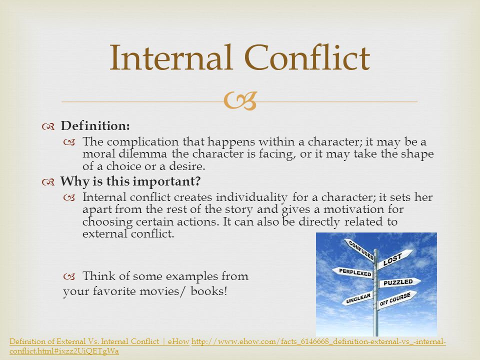 Internal conflict examples in movies