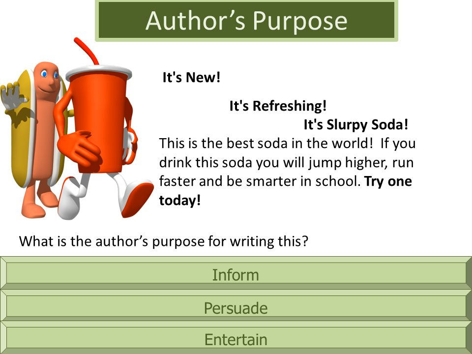 Author's Purpose It s New!