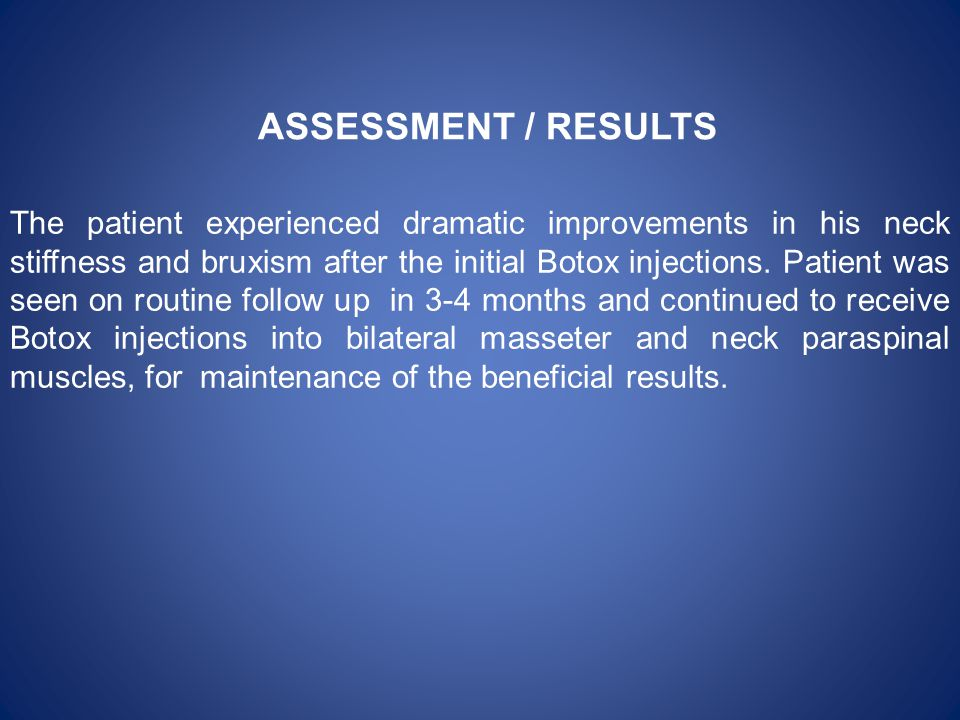 ASSESSMENT / RESULTS