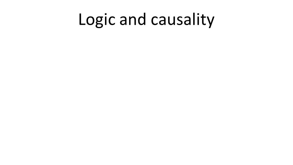 Logic and causality