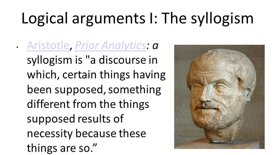 Logical arguments I: The syllogism