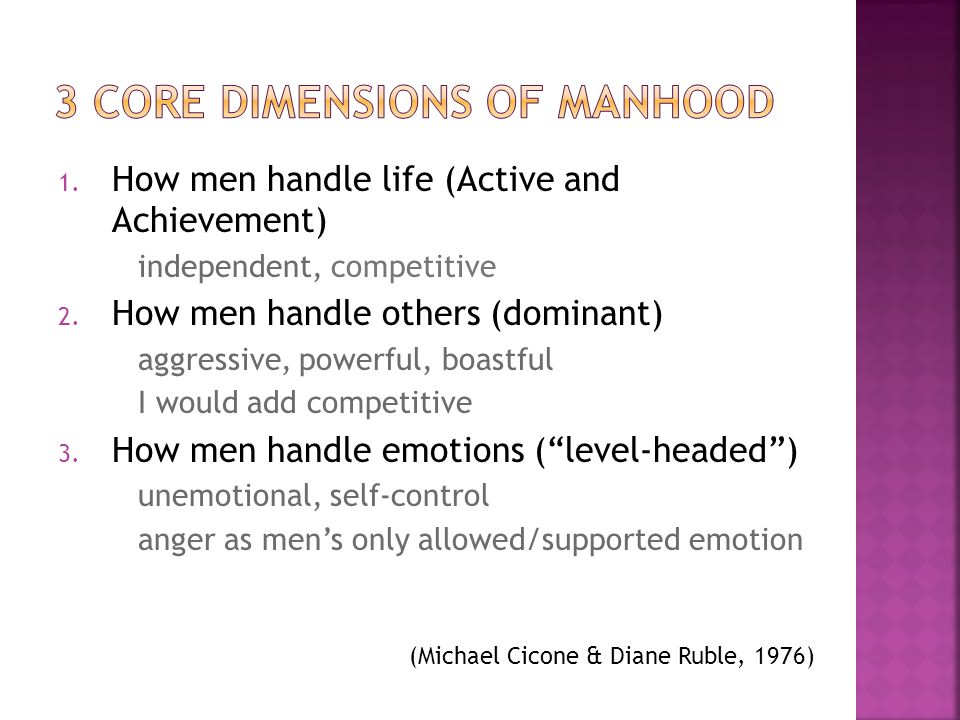 3 Core Dimensions of Manhood
