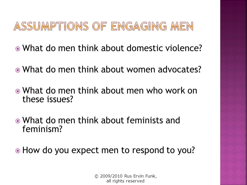 Assumptions of Engaging Men