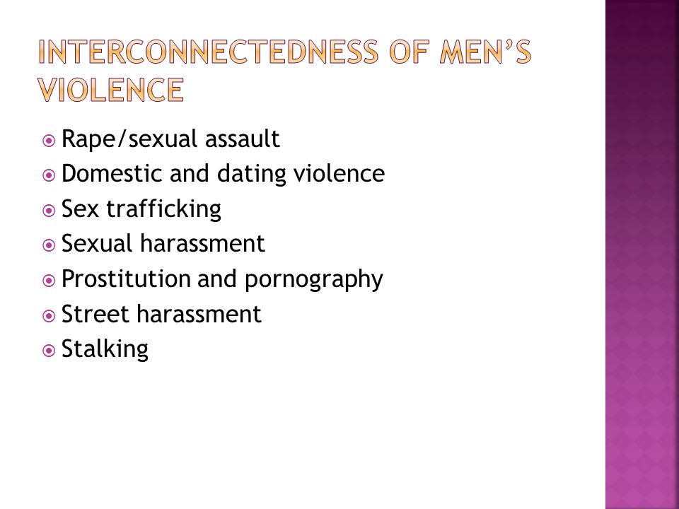 Interconnectedness of Men's violence