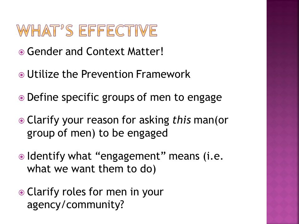 What's effective Gender and Context Matter!