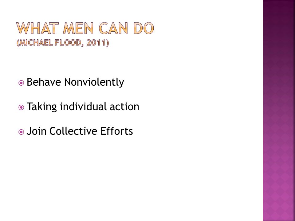 What Men Can do (Michael Flood, 2011)