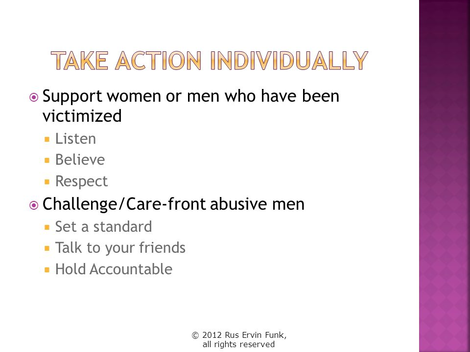 Take Action Individually