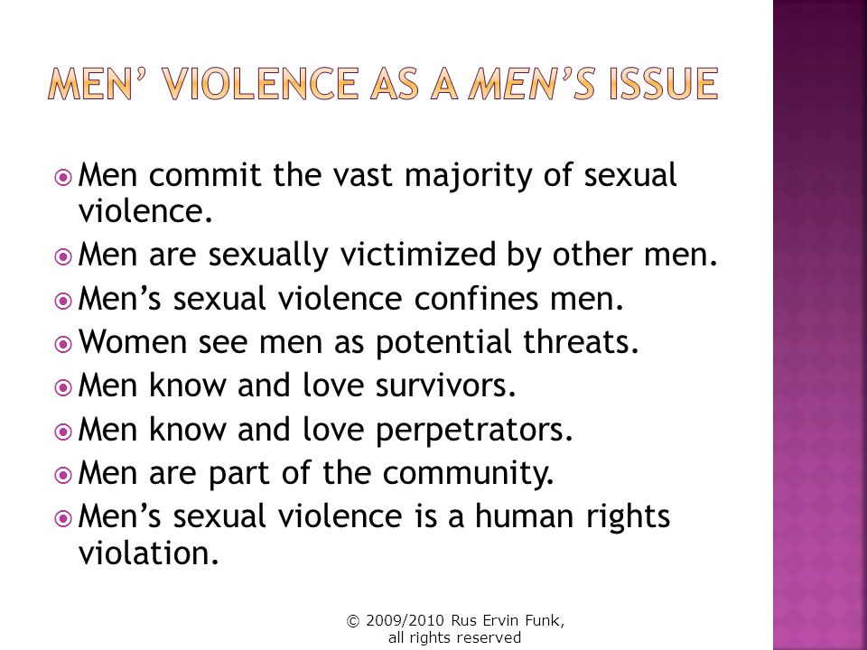 Men' Violence as a Men's Issue