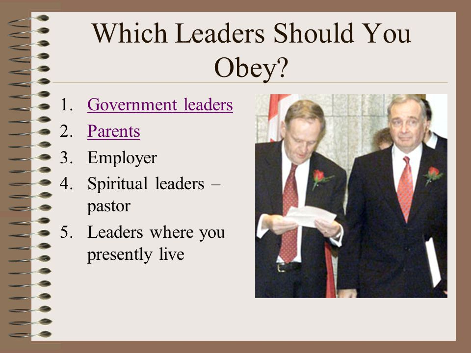 Which Leaders Should You Obey