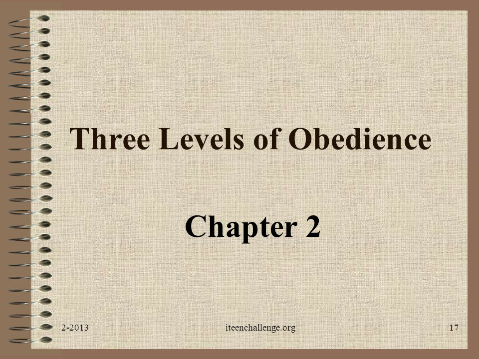 Three Levels of Obedience