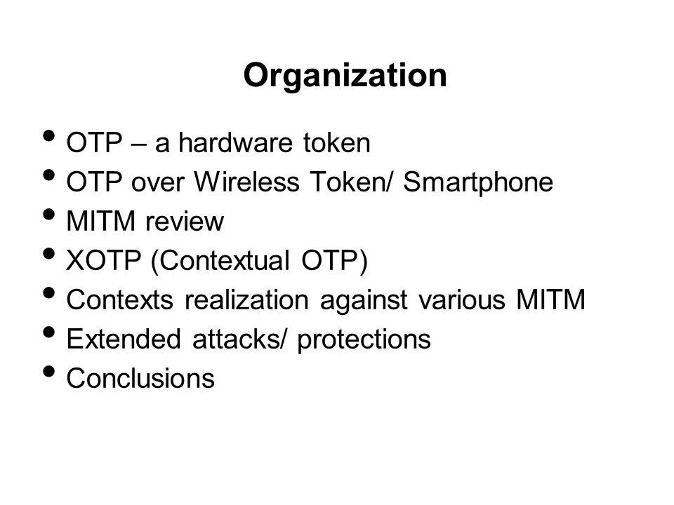 Organization OTP – a hardware token
