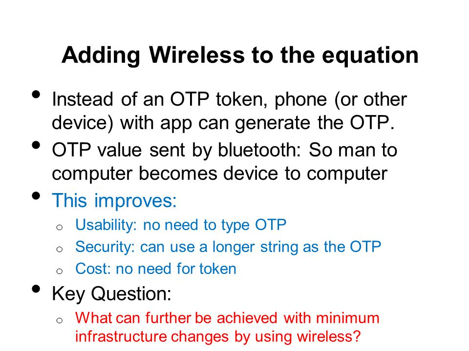 Adding Wireless to the equation