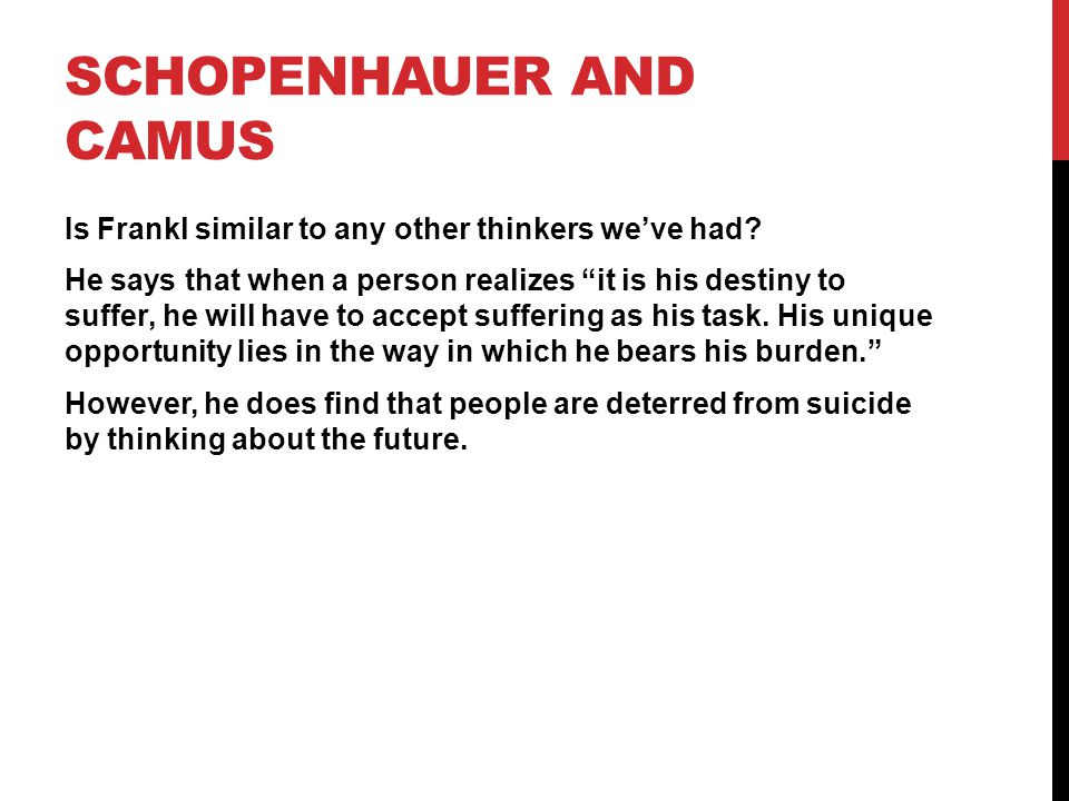 Schopenhauer and Camus