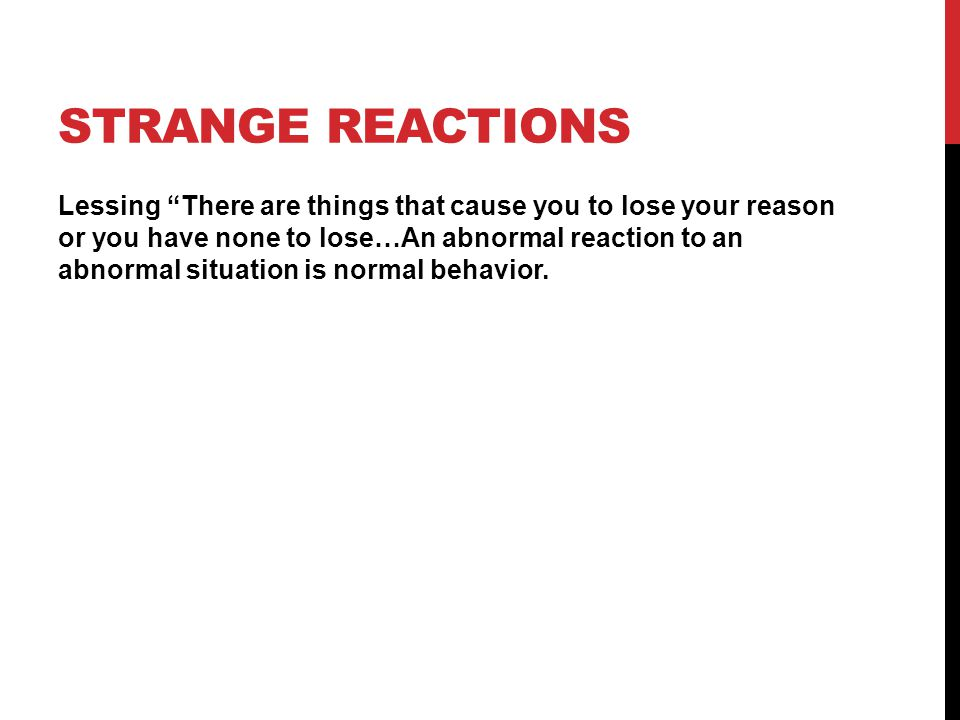Strange Reactions