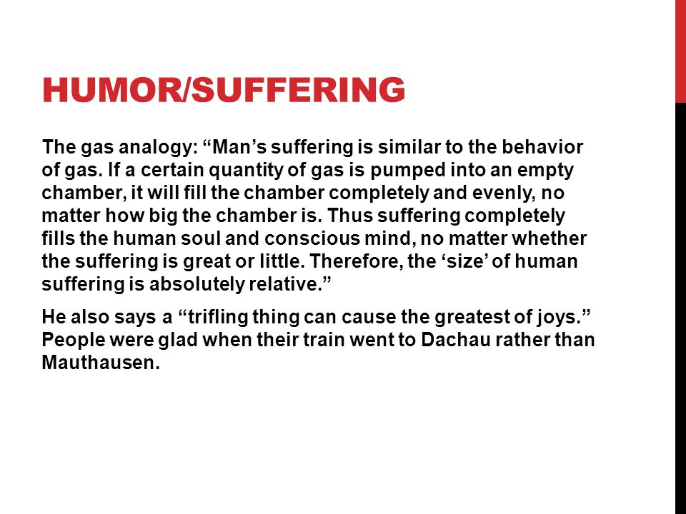 Humor/Suffering
