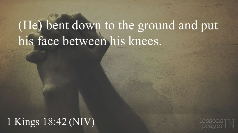 (He) bent down to the ground and put his face between his knees.