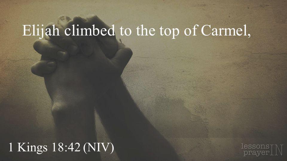 Elijah climbed to the top of Carmel,