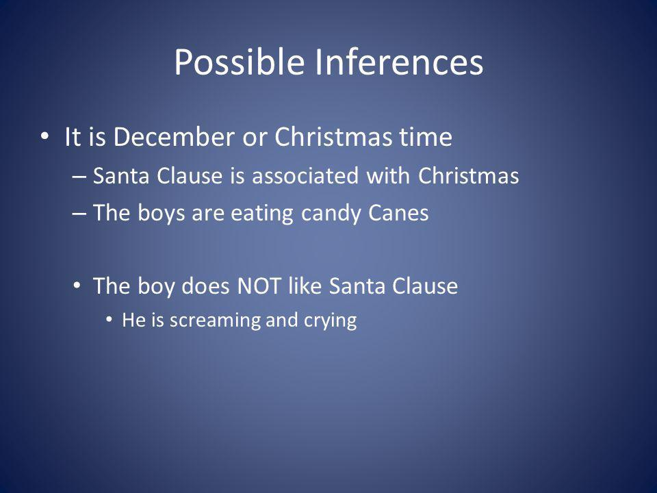 Possible Inferences It is December or Christmas time