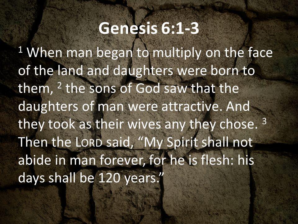 Genesis 6:1-3
