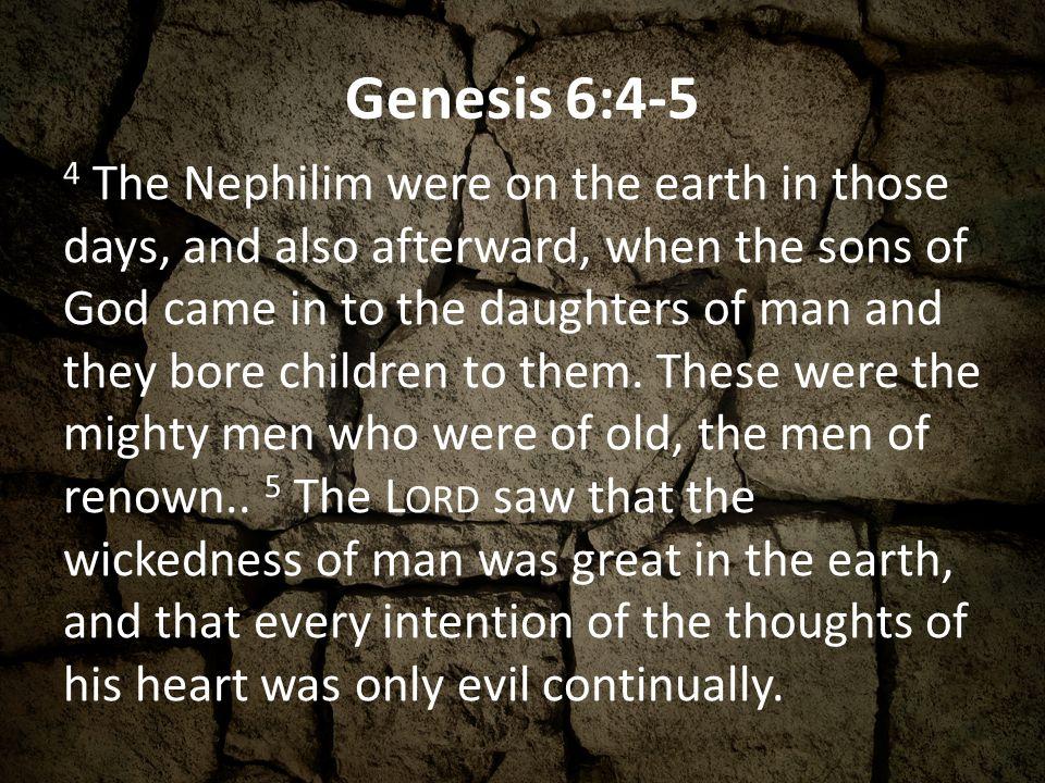 Genesis 6:4-5