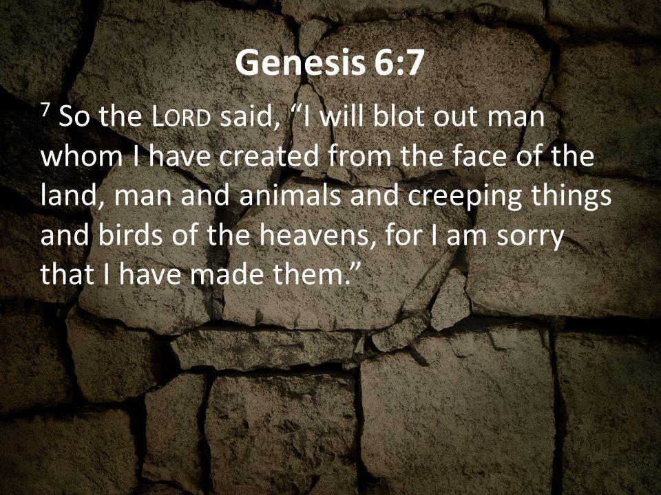 Genesis 6:7