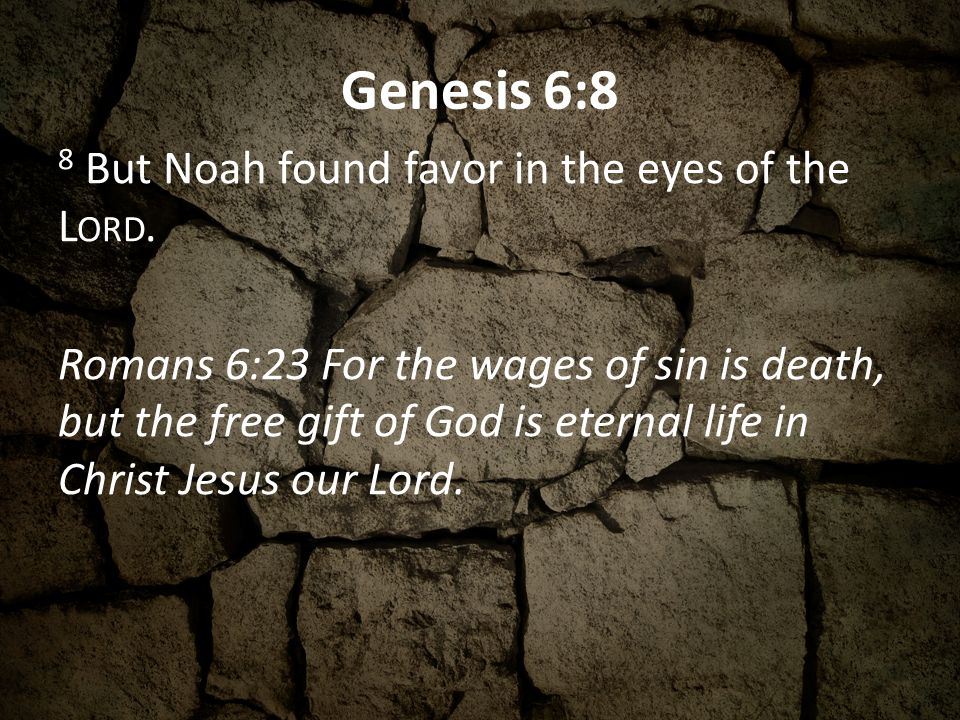 Genesis 6:8