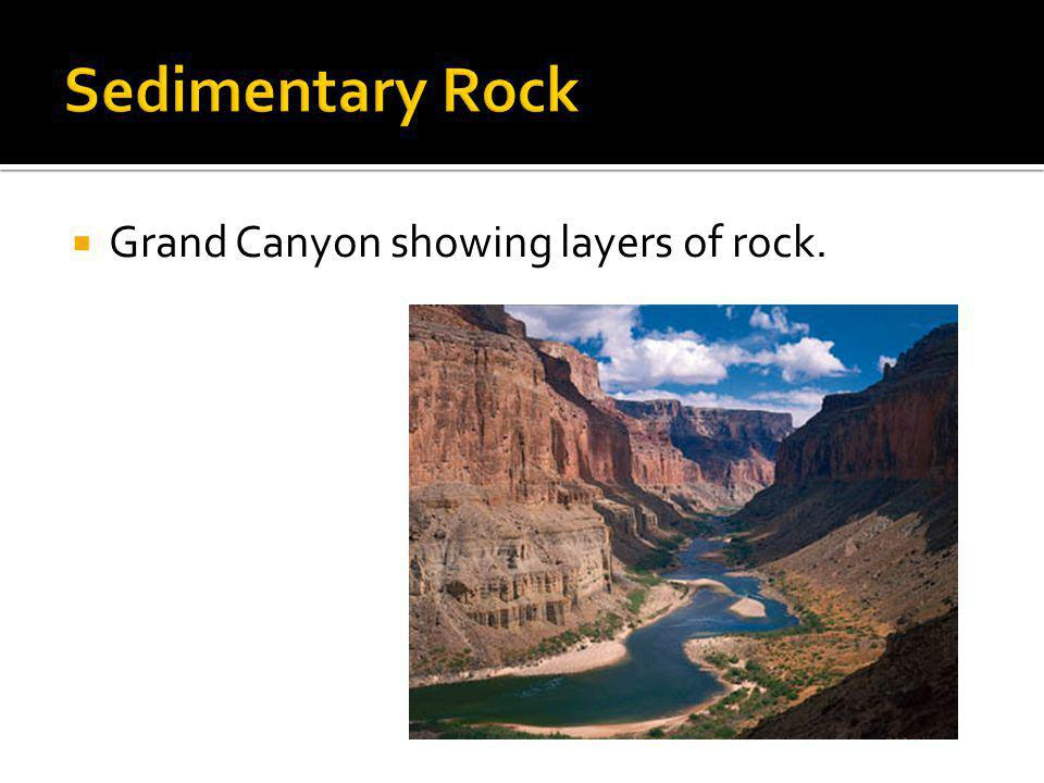 Sedimentary Rock Grand Canyon showing layers of rock.