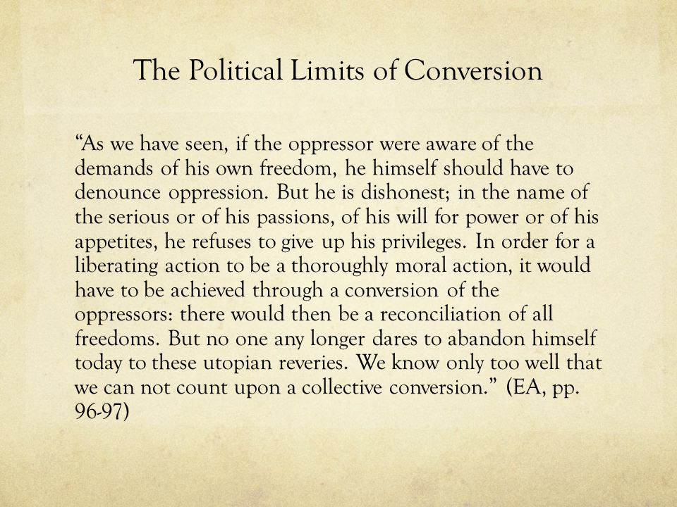 The Political Limits of Conversion