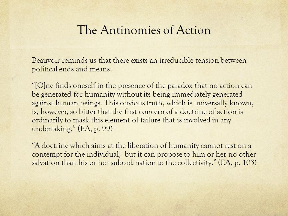 The Antinomies of Action
