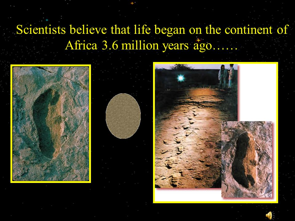 Scientists believe that life began on the continent of Africa 3