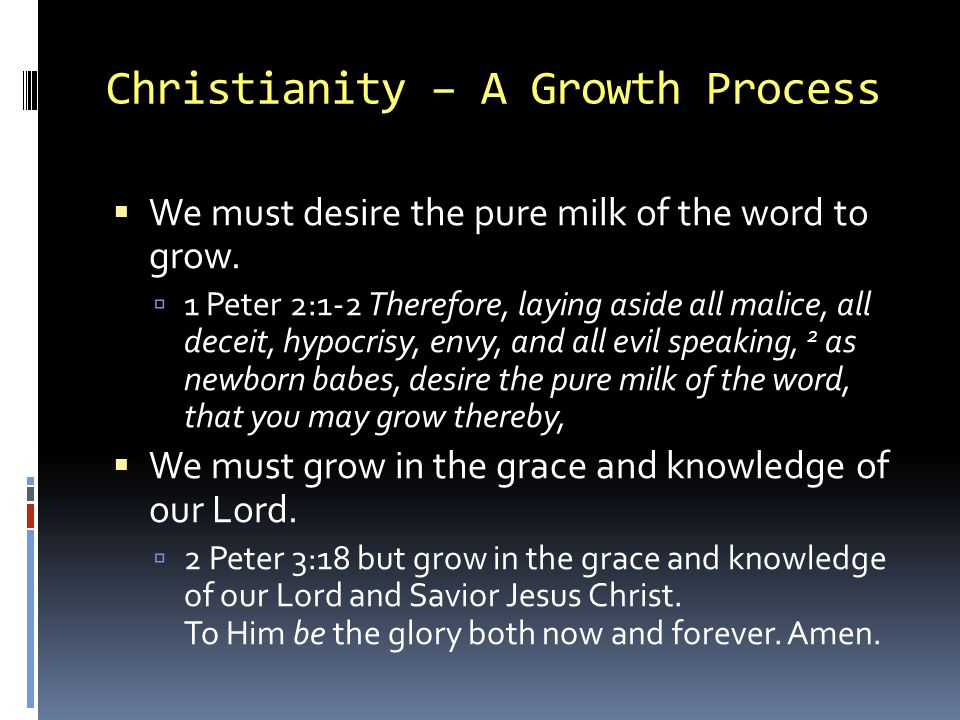 Christianity – A Growth Process