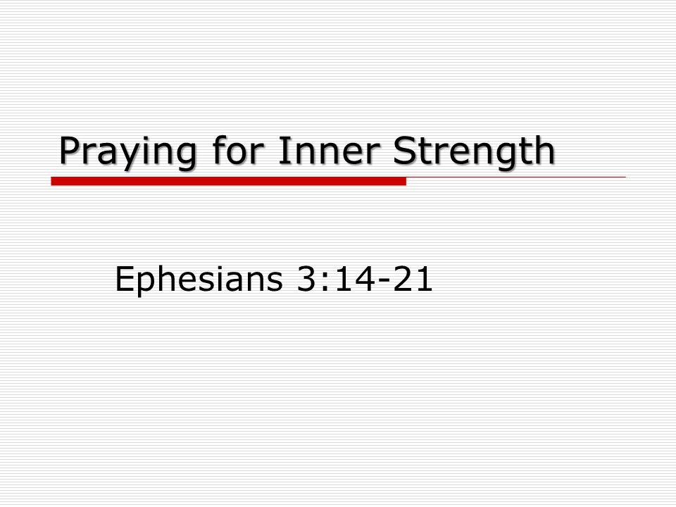 Praying for Inner Strength