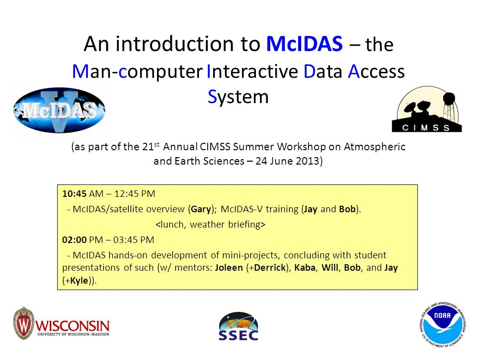 An introduction to McIDAS – the Man-computer Interactive Data Access System