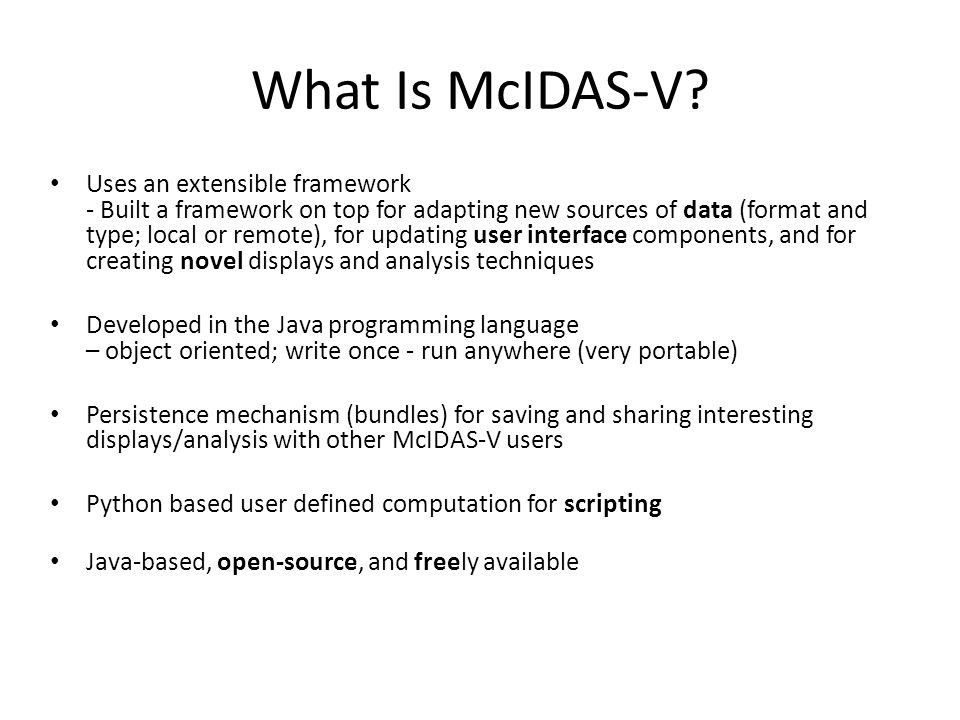 What Is McIDAS-V