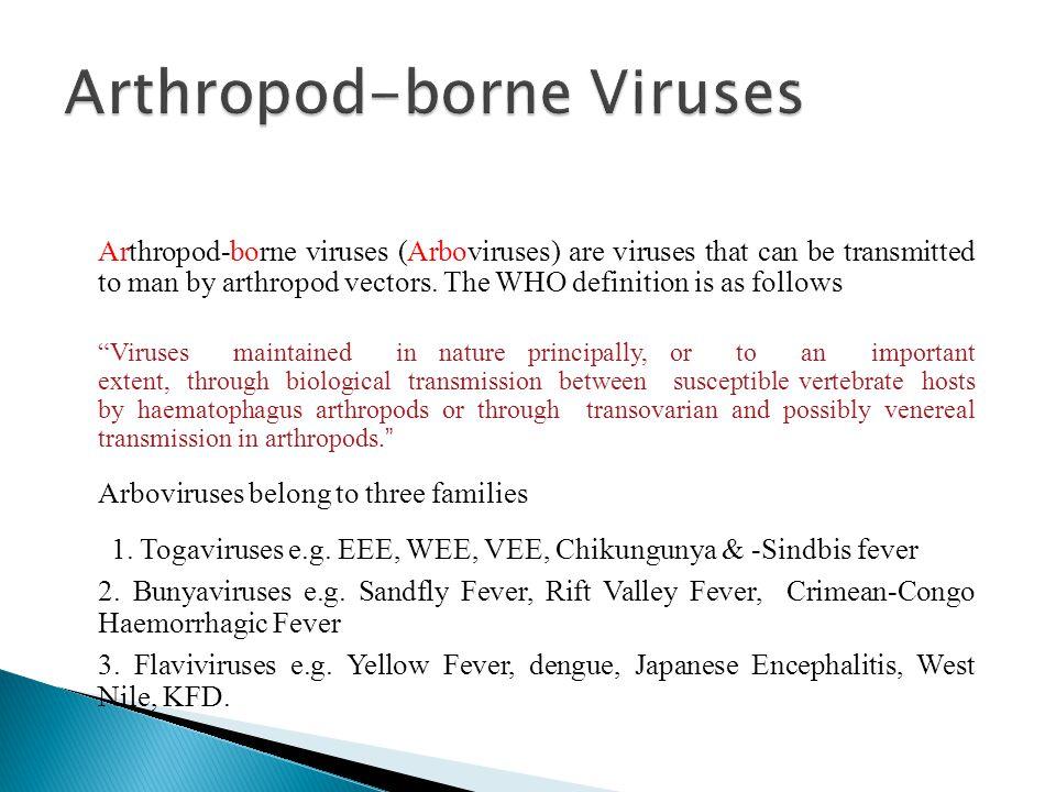 Arthropod-borne Viruses