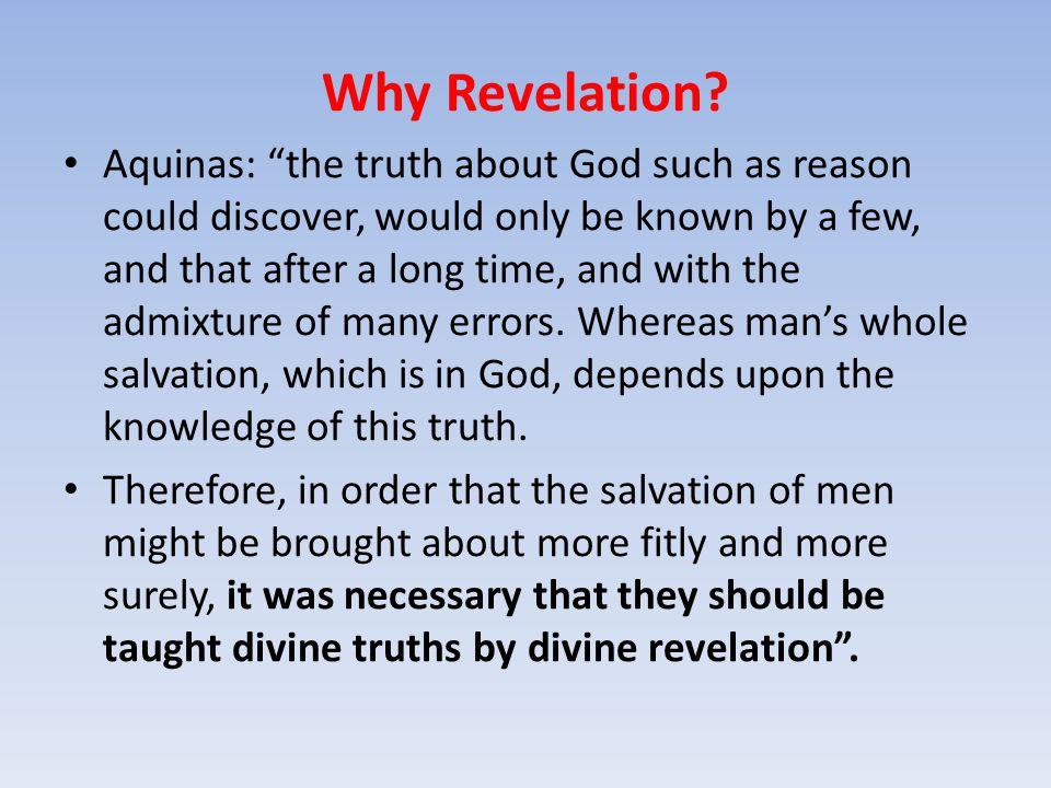 Why Revelation