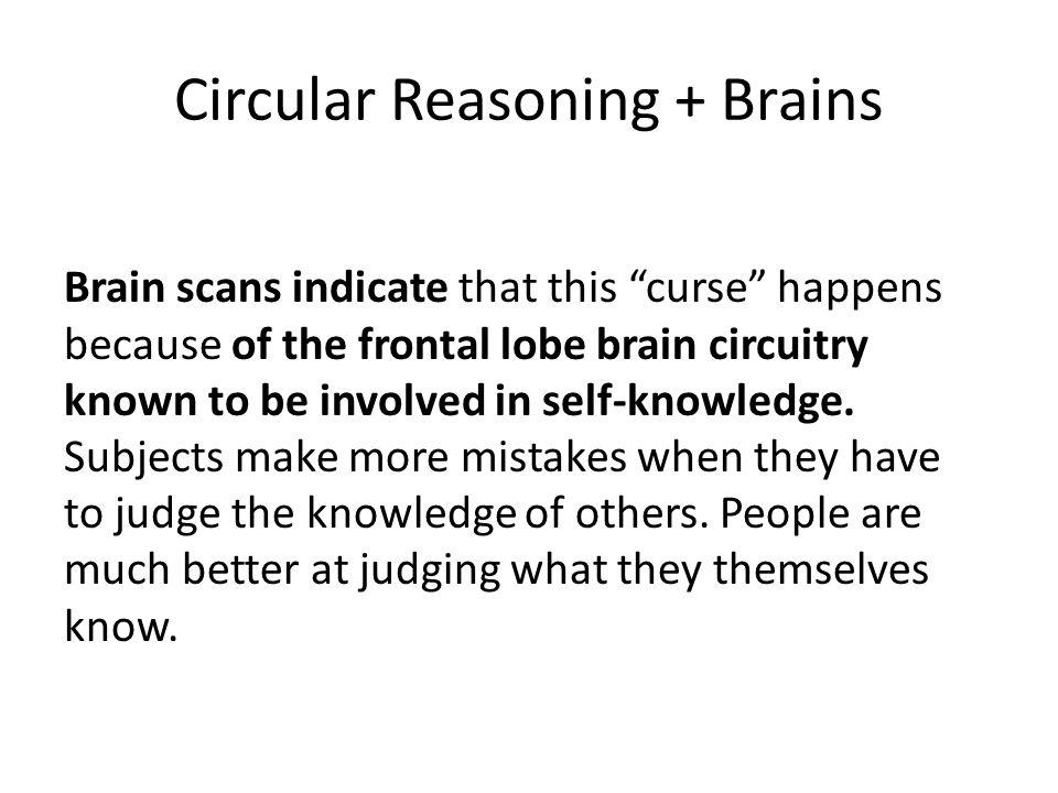 Circular Reasoning + Brains