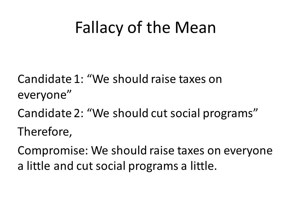 Fallacy of the Mean