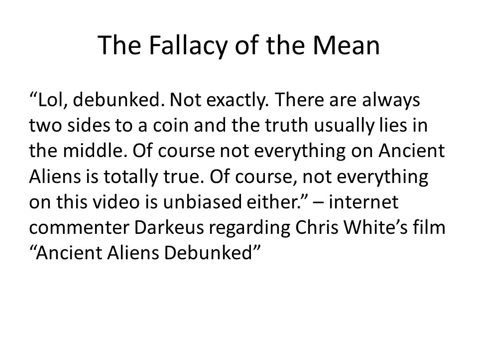 The Fallacy of the Mean