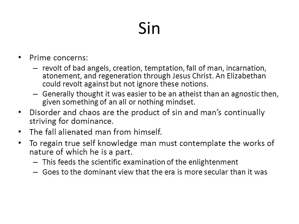 Sin Prime concerns: