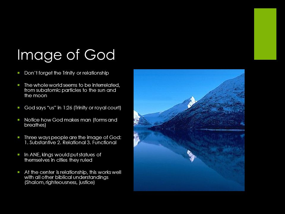Image of God Don't forget the Trinity or relationship
