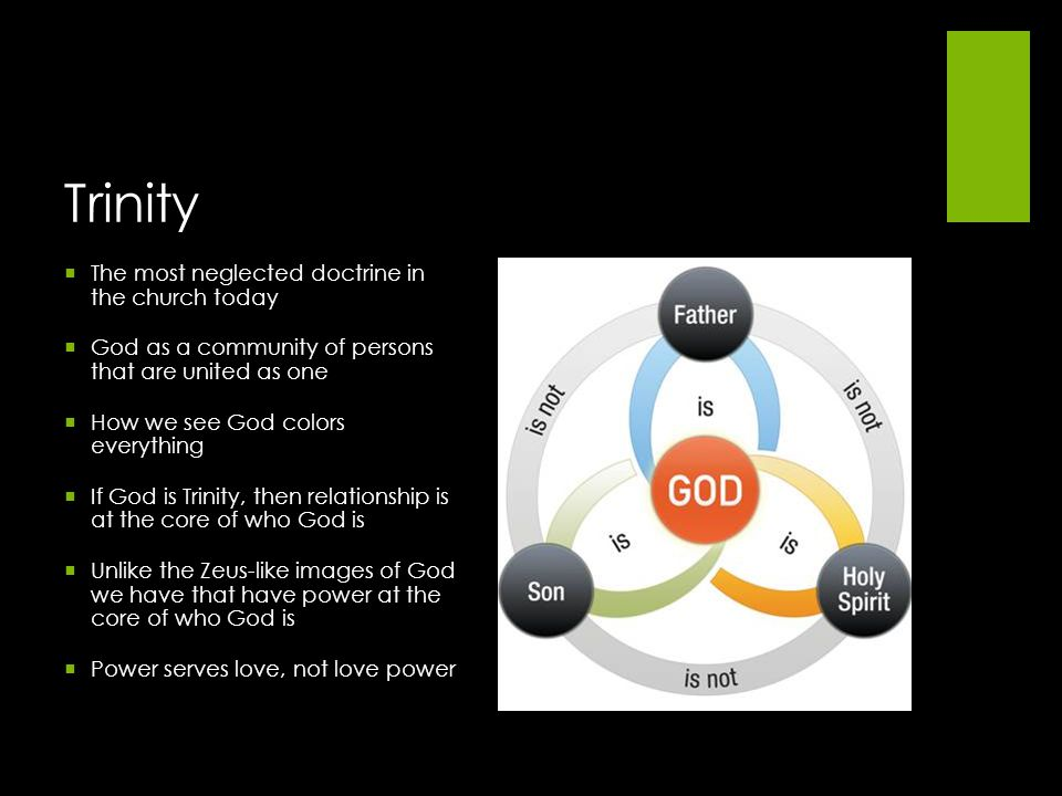 Trinity The most neglected doctrine in the church today