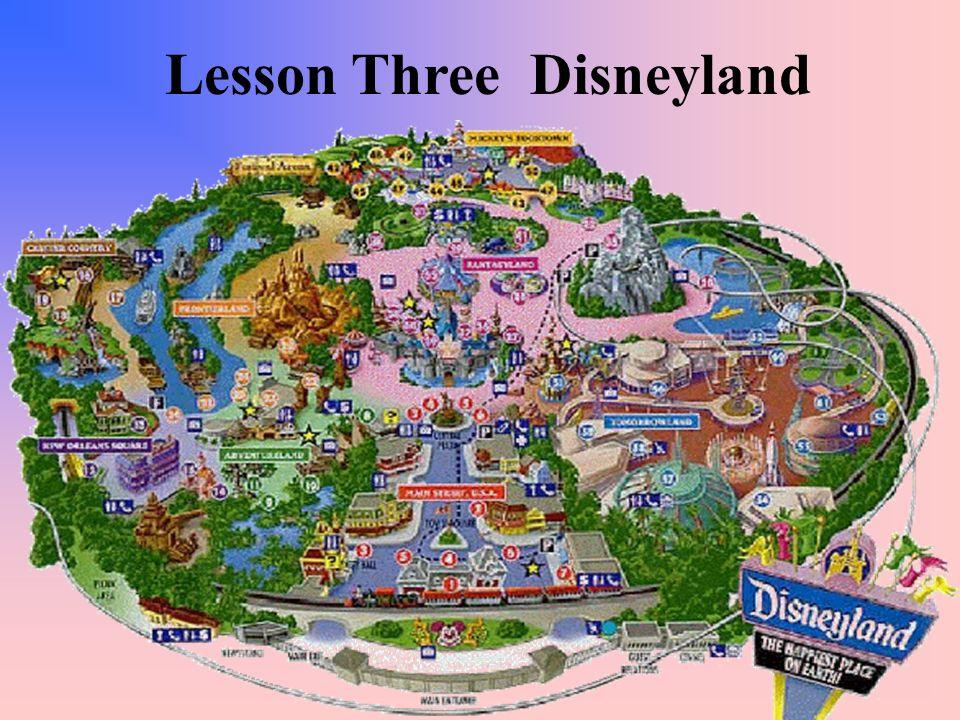 Lesson Three Disneyland