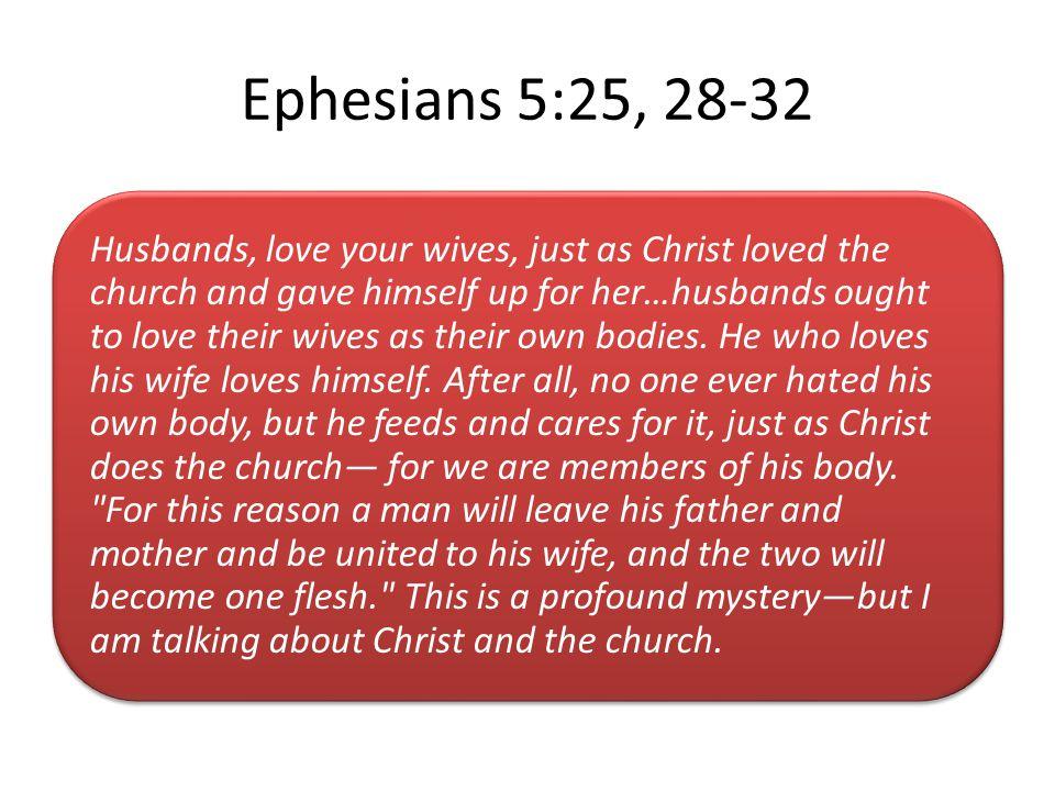 Ephesians 5:25, 28-32