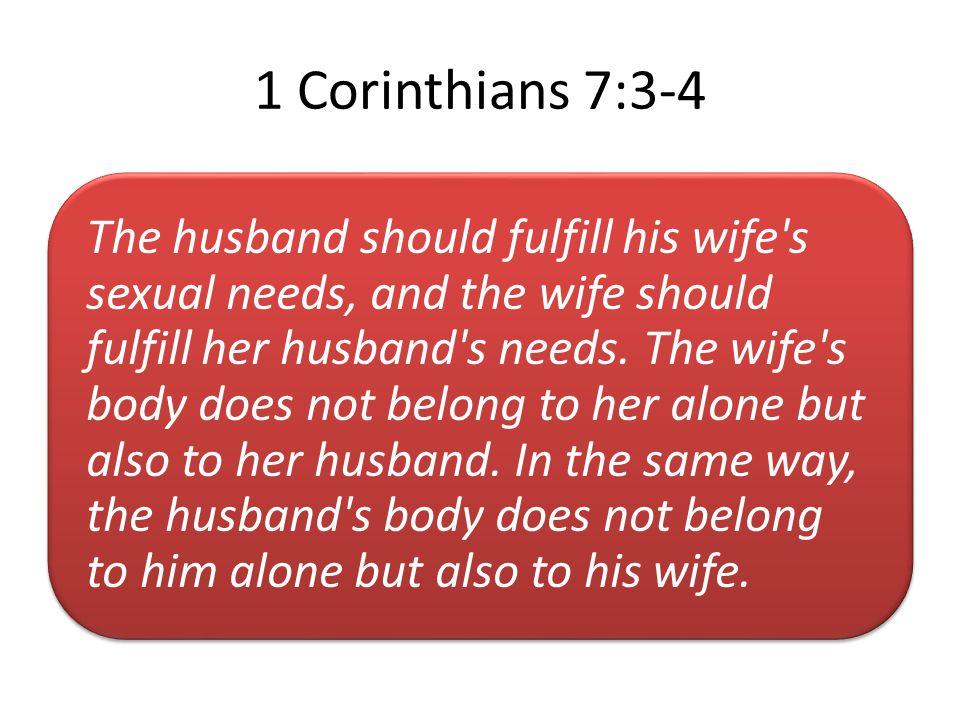 1 Corinthians 7:3-4
